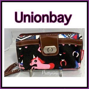 Unionbay Canvas Unicorn Wallet